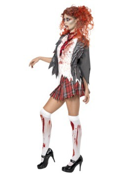 Women's School Girl Zombie Costume2
