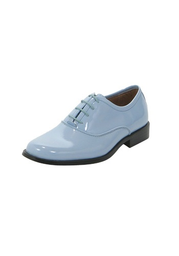Baby Blue Mens Tuxedo Shoes