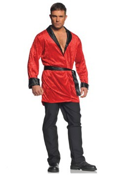 Men's Red Smoking Jacket