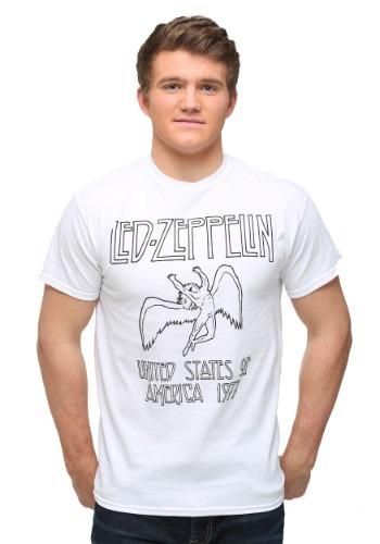 Led Zeppelin White Icarus T-Shirt