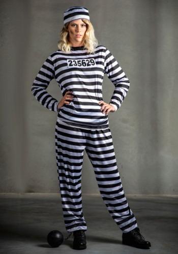 Womens Prisoner Plus Size Costume