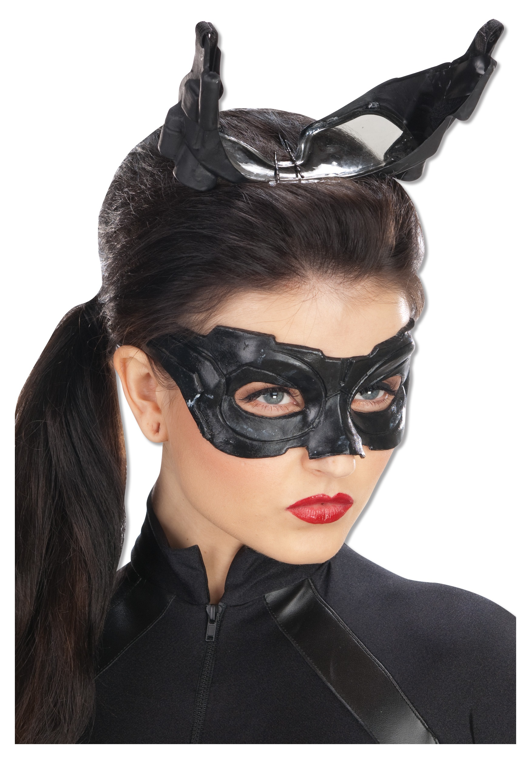 Ladies Deluxe Catwoman Mask  sc 1 st  Fun AU : catwoman mask and ears costume  - Germanpascual.Com