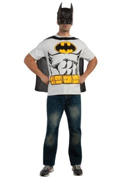 Mens Classic Batman T-Shirt with Cape Costume  sc 1 st  Fun AU & Batman Clothing