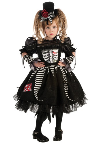 Girls Skeleton Bride Costume