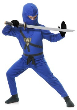 Blue Ninja Master Kids Costume