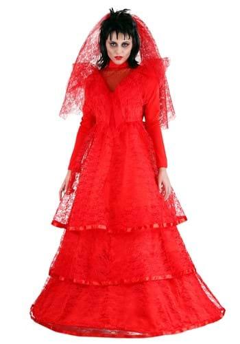 Women's Red Gothic Wedding Dress
