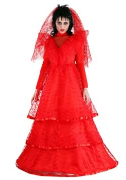 Women's Red Gothic Wedding Dress