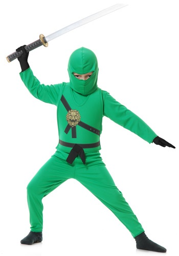 Child Green Ninja Costume