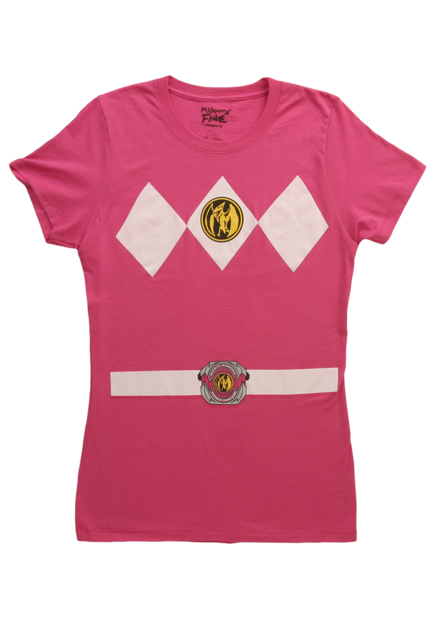 7209893954b Womens Pink Power Ranger Costume T-Shirt