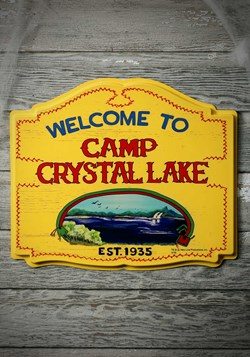 Camp Crystal Lake Sign Decor