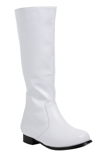 Boys White Footwear Costume Boots