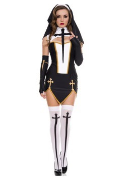 Women's Bad Habit Nun Costume