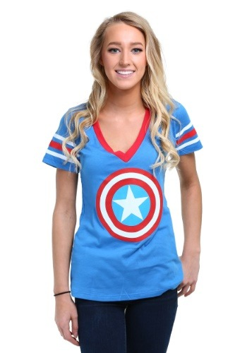 Womens Captain America Logo T-Shirt