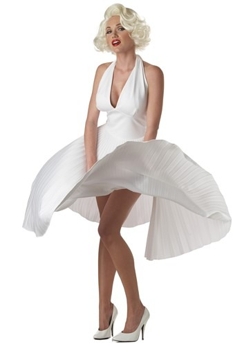 Deluxe White Marilyn Monroe Halter Dress