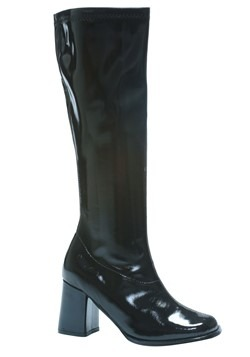 Adult Costume Black Gogo Boots