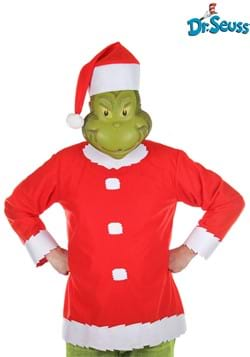 Adult Grinch Costume with Hat and Half Mask