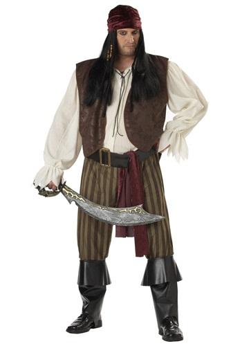 Rogue Pirate Costume For Plus Size
