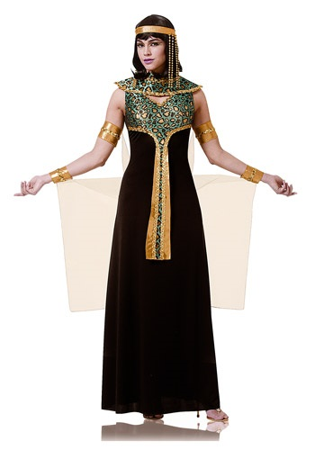 Women's Black and Teal Cleopatra Costume