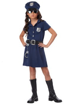 Girls Classic Police Officer Costume