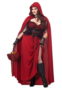Dark Red Riding Hood Plus Size Women's Costume Update1