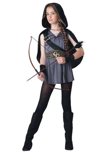 Hooded Huntress Girl's Costume