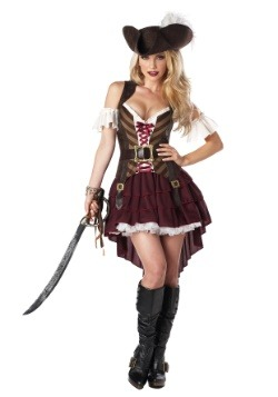 Women's Sexy Swashbuckler Captain Plus Size Costume