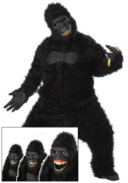 Goin Ape Gorilla Costume For Adults