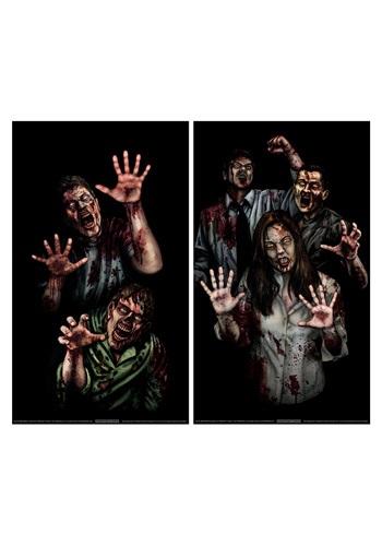 Halloween Decoration Zombie Asylum Window Cling