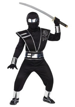 Kids Silver Mirror Ninja Costume