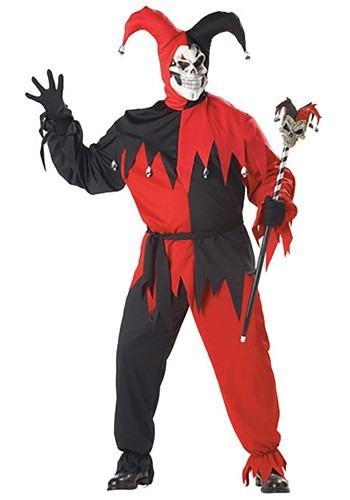 Men's Evil Jester Plus Size Costume
