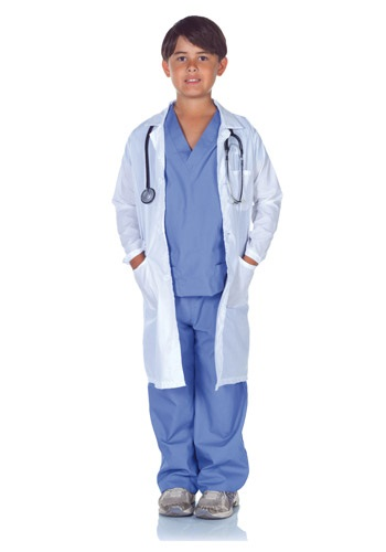 Doctor Scrubs with Lab Coat for Kids