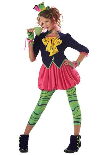 Tween Wonderland Miss Mad Hatter Costume