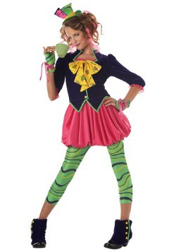 Tween Wonderland Miss Mad Hatter Costume