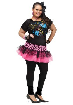 Plus Size 80's Pop Party Costume