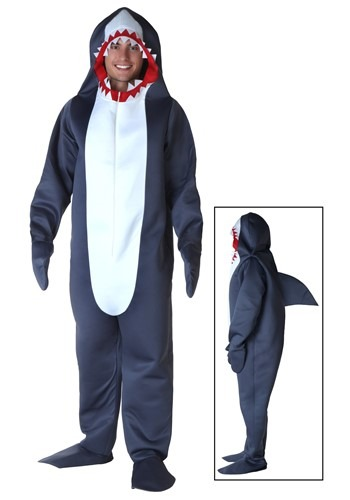 Men's Grey Shark Costume