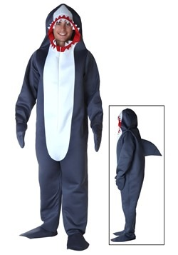 Men's Grey Shark Costume