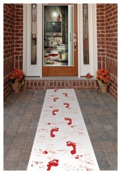 Bloody Footprints Runner Halloween Decoration