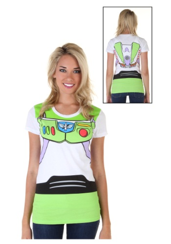 Toy Story I Am Buzz Womens Costume Tee