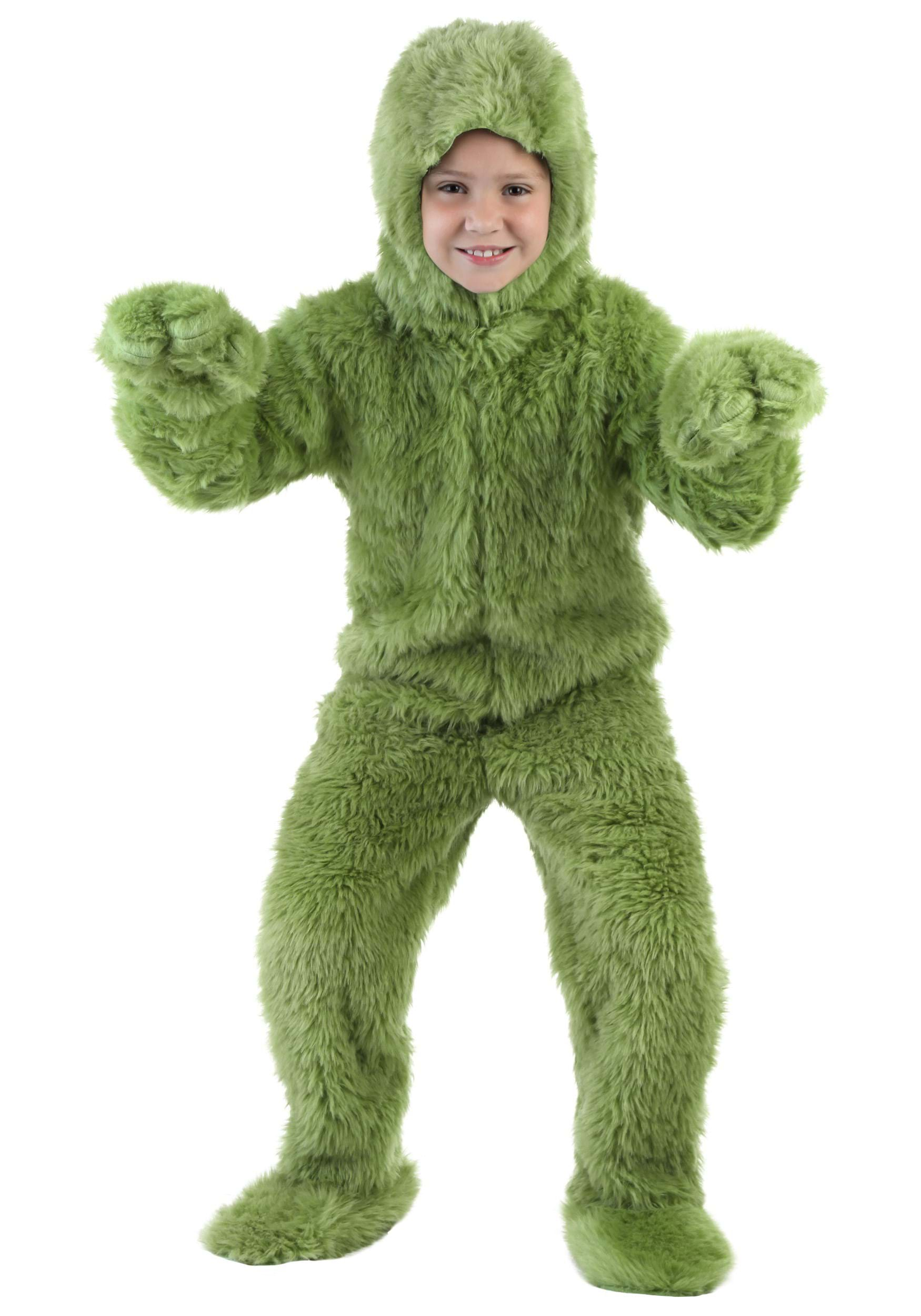Green Furry Jumpsuit Costume