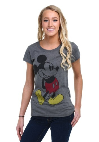 Classic Mickey Mouse Womens Heather T-Shirt