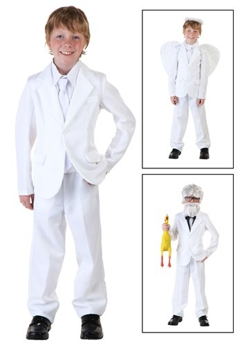Kids White Suit Costume