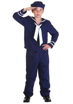 Blue Sailor Costume For Kids