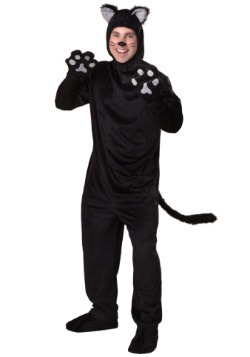 Plus Size Black Cat Costume For Adults