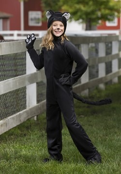 Child Black Cat Costume Alt 1
