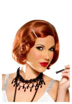 Red Pin Curl Cutie w/ Pin Wig