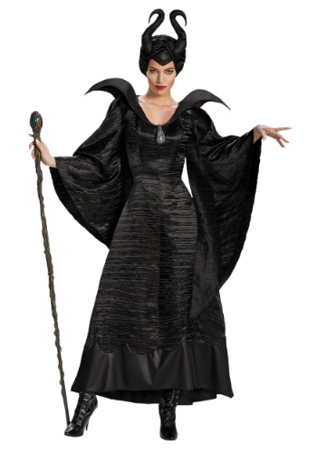 Maleficent Deluxe Christening Plus Size Womens Black Gown