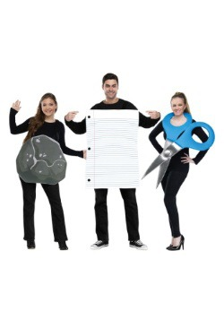 Rock, Paper, Scissors Adult Group Costume