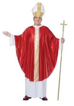 Plus Size Pope Costume For Adults
