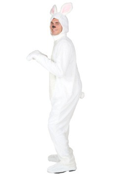 Plus Size White Bunny Costume For Adults alt 1