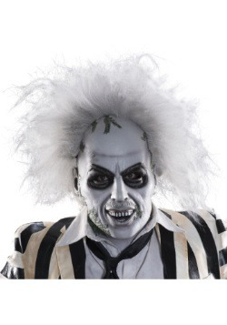 Adult Beetlejuice Full-Head Latex Mask w/ Hair